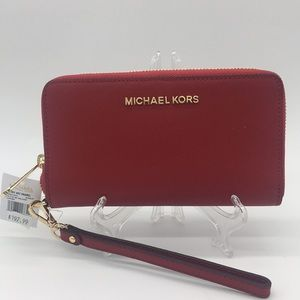 Michael Kors Jet Set Travel Phone Wallet Wristlet